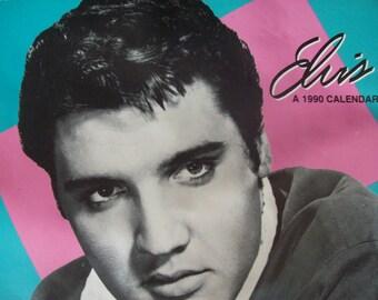 1990 Elvis Calendar Black & White Elvis Photos