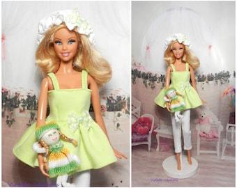 Pajama for doll type barbie