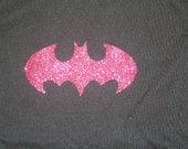 Batman Logo Pink Glitter