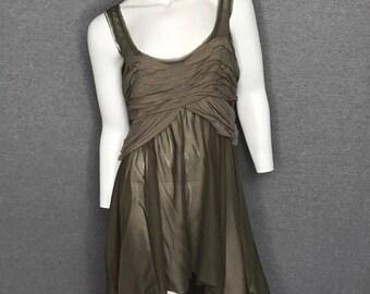 DONNA KARAN Gathered Dress Size: 6