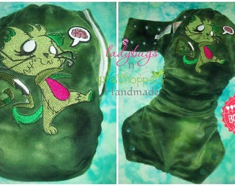 Zombie Kitty Lolly Bottoms OSFM Original Modern Cloth Nappy