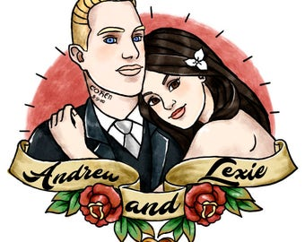 Wedding Temporary Tattoos Custom - Wedding Temporary Tattoos - Wedding Favors for Guest - Bride & Groom Tattoo - Wedding Favors