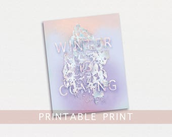 Winter is Coming Print, Printable Winter Is Coming, Printable Game of Thrones Art, Printable Game of Thrones Poster, Winter is Coming Poster
