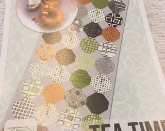Paper Pattern for a quilt called Tea Time by Zen Chic for Moda table runner