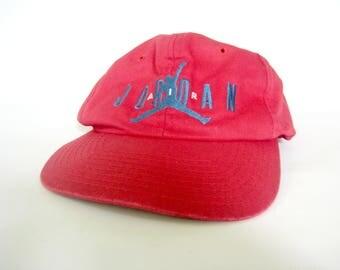 Michael Jordan Ball Cap, Basketball cap, Vintage Red Michael Jordan Youth Ballcap, Vintage Michael Jordan, Vintage Ballcap