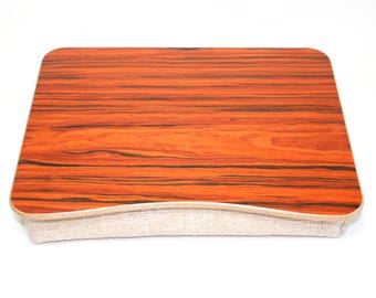 Wood Laptop Bed Tray / Rosewood iPad Table / Pillow Tray / Breakfast Tray / Serving Tray / Laptop Stand Rosewood