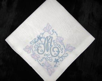 Handkerchief Initial M, F, H, E, P or A