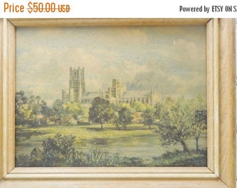 ON SALE Max Hofler Lithograph Set. Ely Cathedral and Chichester Cathedral Sussex. Famous German Impressionist Artist. English