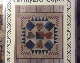 Farmyard Caper Quilt Wallhanging Pattern