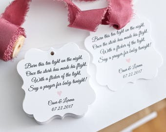 Baby Shower Favor Tags- Favor Tags - Baby Shower - Baby Tags - Thank You Tags - Paper Goods - Gift Tags