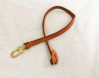 Authentic Vintage Louis Vuitton Leather Replacement Strap Key Ring for Pochette Speedy Alma Neverfull Tote Bag