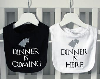 Game Of Thrones Style Stark Bib Set