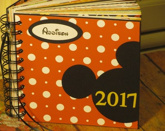 SALE 80pgs Personalized Disney Autograph Book for Boys (w/out Bows) and Girls (w/Bows)
