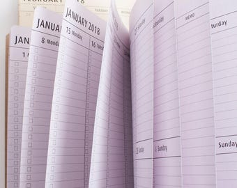 2018 January - March 1st Quarter VERTICAL Monthly with Weekly Dated Calendar Midori Travelers notebook Inserts Midori[N065-1]