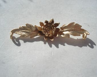 34mm Copper Connector, Gold Plated Lotus Flower Leaf Connector, C165