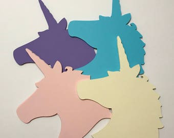 40 Large Unicorn Cut Out for Wall Art Silhouette Decoration Accessories Party Favor Party Supply Craft