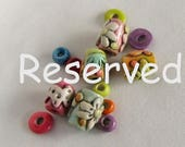 Reserved for A.D. Mixed Colorful Boho Beads, Unique Handcrafted Beads, Whimsical Rustic Beads, Colorful Beads and Spacers