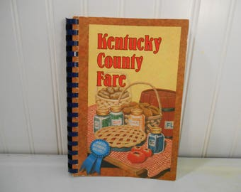 Kentucky County Fair cookbook, Vintage cookbook, Vintage kitchen, Props, Staging, Ephemera, American Cancer Society