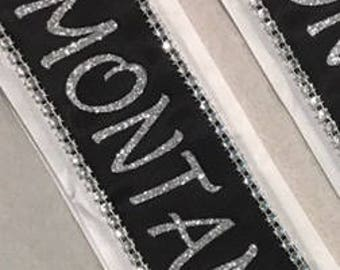 Beauty pageant sash, Bridal sash, Miss Argentina, Hallo Costume, Prom King, Prom Queen, Miss America, Beauty Queen, Any Color any wording