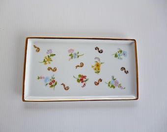 "small ""flowers of Meissen"" porcelain plate"