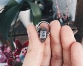 Small Tibetan Quartz and Silver Pendant