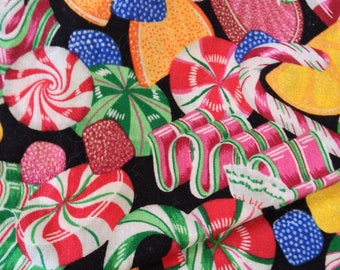 Cranston Print Works, VIP Print, Christmas Candy Fabric 3 yards Cotton Christmas Craft Supply, Quilting Fabric, Fun Fabric