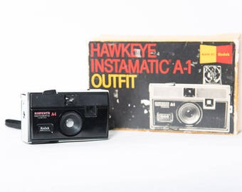 Kodak Hawkeye Instamatic A-1 Camera Original Box 1960s Vintage Photography 126 Film