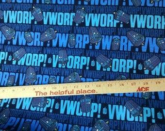 Worp worp- Doctor Who cotton woven- 1 yard