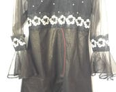 Irma Design Eid Collection, black organza kurti, organza, women clothing, indian/pakistani/bengali dresses