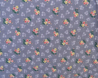Purple Floral Fabric Calico Print