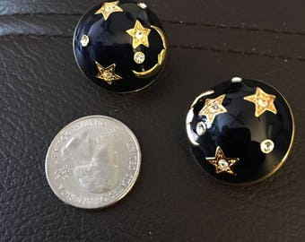 Vintage crescent moon earrings...free shipping!!
