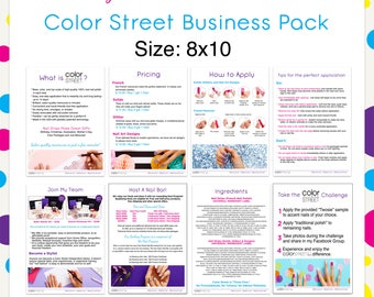 Color Street Business Pack 8x10 --Instant Digital Download
