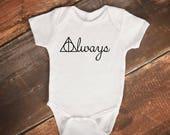 "Baby Bodysuit - ""Always"" Harry Potter Deathly Hallows"