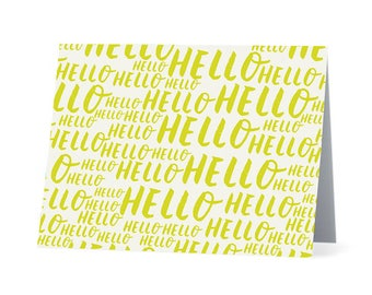 Hello Note Card Set - Blank Note Card