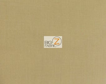 "Solid Poly Cotton Fabric - KHAKI - Sold By The Yard Polycotton 58""/60"" Width (P208)"