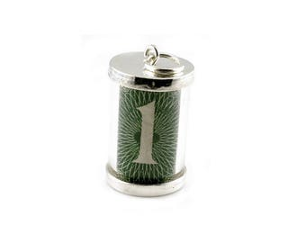 "Sterling Silver 60""s 1.00 Pound Emergency Note Charm For Bracelets"