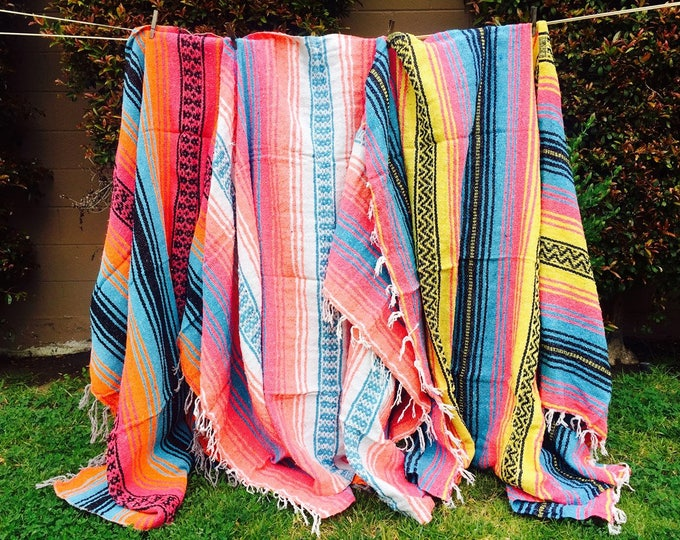 Beach Blankets / Mexican Blankets / Mexican Fabric / Throw Blankets / Falsa Blankets / Textiles  / Sea Gypsy Blankets