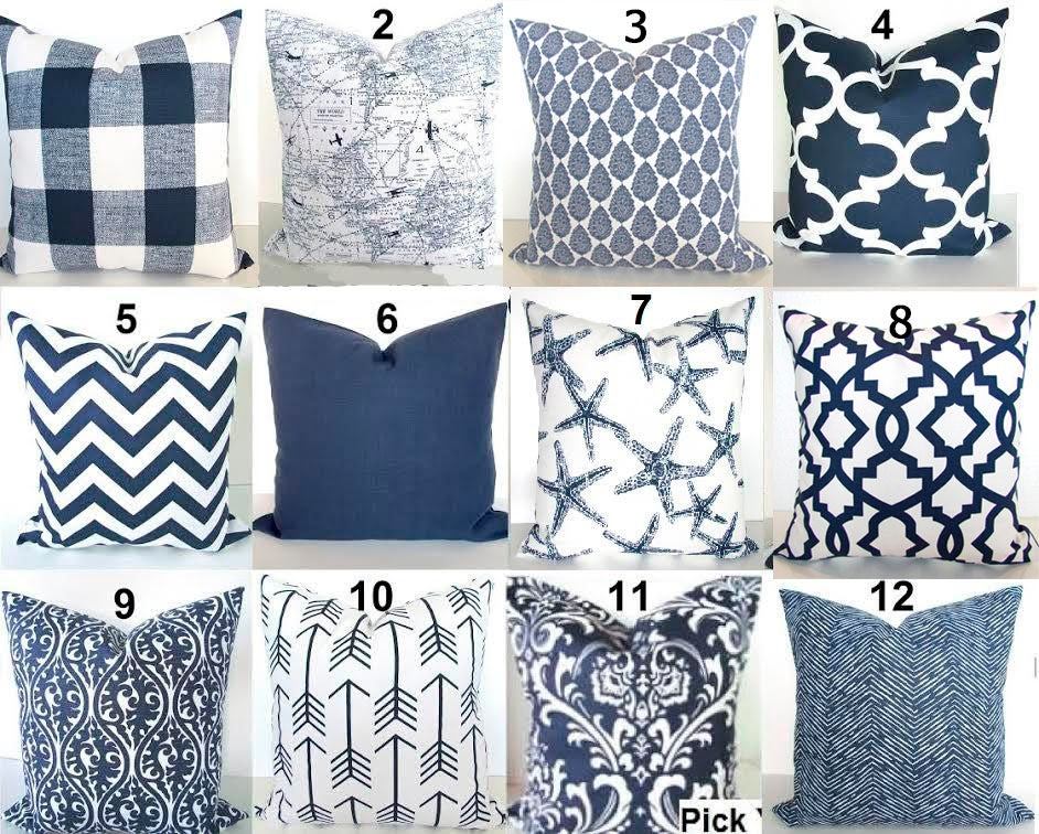 Blue Throw Pillows Navy Blue Pillow Covers Navy Blue