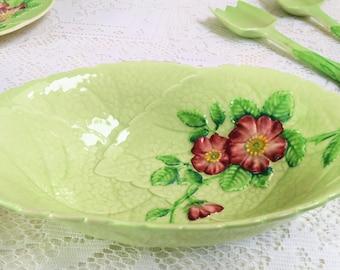 """Oval Leaf Shaped  Serving Bowl """"Wild Rose"""" Carlton Ware, Australian Design, K"""