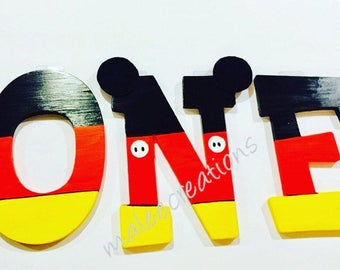 Mickey wooden letters