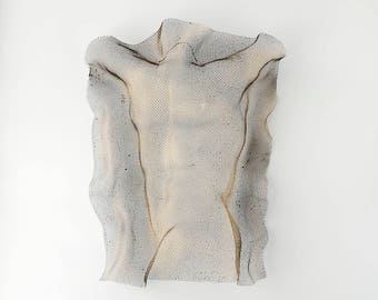 Nude man torso sculpture, Abstract Metal Wall art sculpture Male Torso Nude 3d wall art