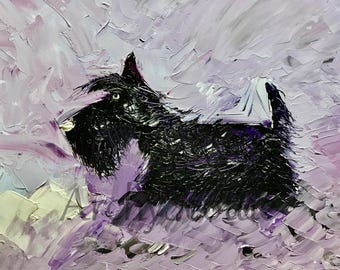 Scottish Terrier Dog  Art Print Scottie Dog #457