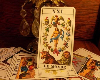Antique tarot cards etsy for Decorative tarot cards