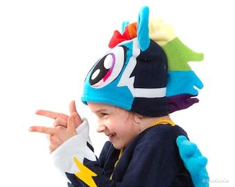 Rainbow Dash Power Pony Winter Hat For Kids My Little Pony