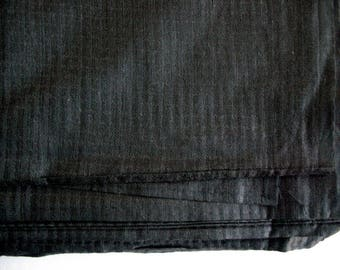 Black Textured Homespun Cotton Silk Sold by Yard