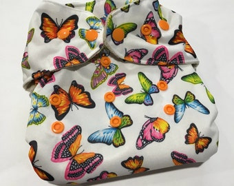 Butterfly One Size Pocket Diaper