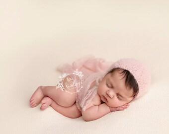 Newborn Photography Fabric Backdrop - Avery Knit Backdrop -  2 Yards - Photography Backdrop, Posing Fabric, Newborn Prop