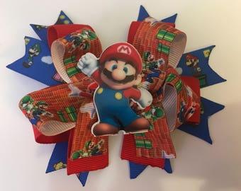 Mario hair bow