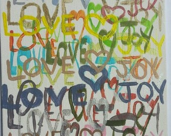 Love <3 Joy acrylic paintings