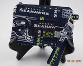 Clutch | ID wristlet | ID Clutch | Cellphone Clutch | Cell Phone Wallet | Credit Card Wallet | Coin Purse | NFL Seattle Seahawks